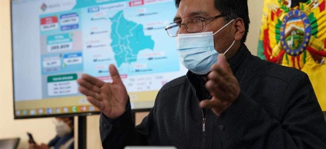 El ministro de Educación, Adrián Quelca. Foto: ABI