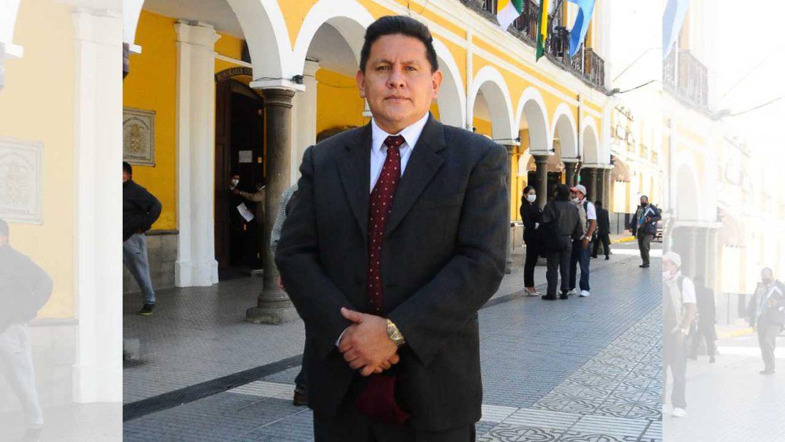 El ahora exintendente municipal de Cochabamba, Fernando Vargas Hinojosa. NOÉ PORTUGAL