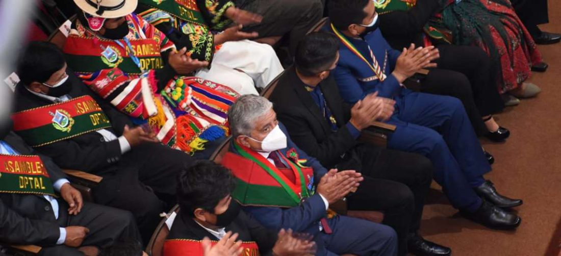 El alcalde en la sesión de la Asamblea Departamental I AMN.