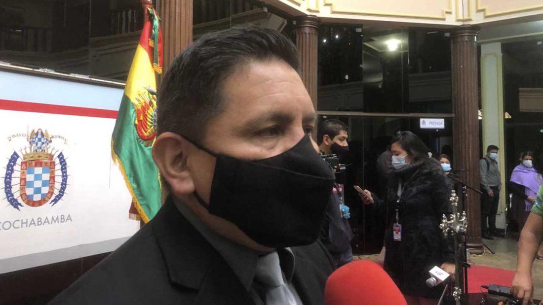 Fernando Vargas, exintendente municipal de Cochabamba. ARCHIVO Miguel Rojas