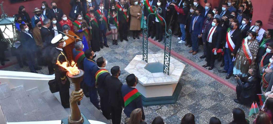 La Paz conmemora 212 años de su gesta libertaria | Foto: APG