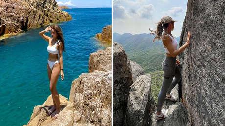 Una estrella de Instagram que solía posar en el borde de precipicios y montañas muere al caer de una cascada en Hong Kong