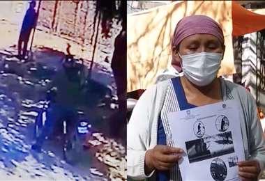 La madre (der.) pide a la Policía dar con el acusado (izq.) del crimen de su hijo