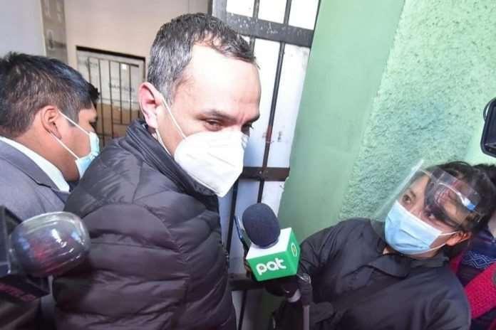 Carlos Schlink, tras ser detenido.
