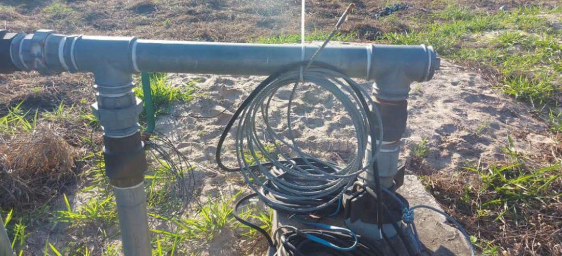 La quema de rastrojos afectó a los cables que alimentan la bomba de agua