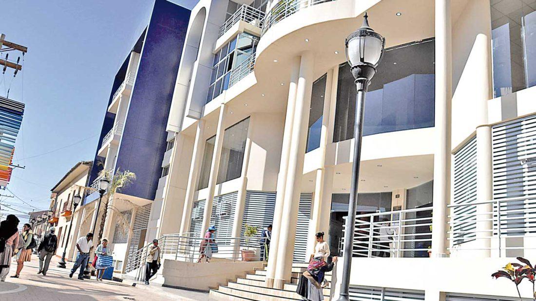 Las instalaciones de la Alcaldía del municipio de Quillacollo.ARCHIVO