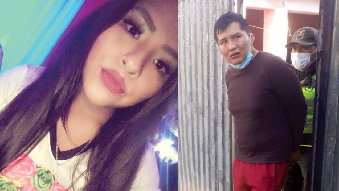 Fotografías de Lucy Alejandra Huanca, víctima, y su feminicida Wilfredo Freddy Chino S. FACEBOOK