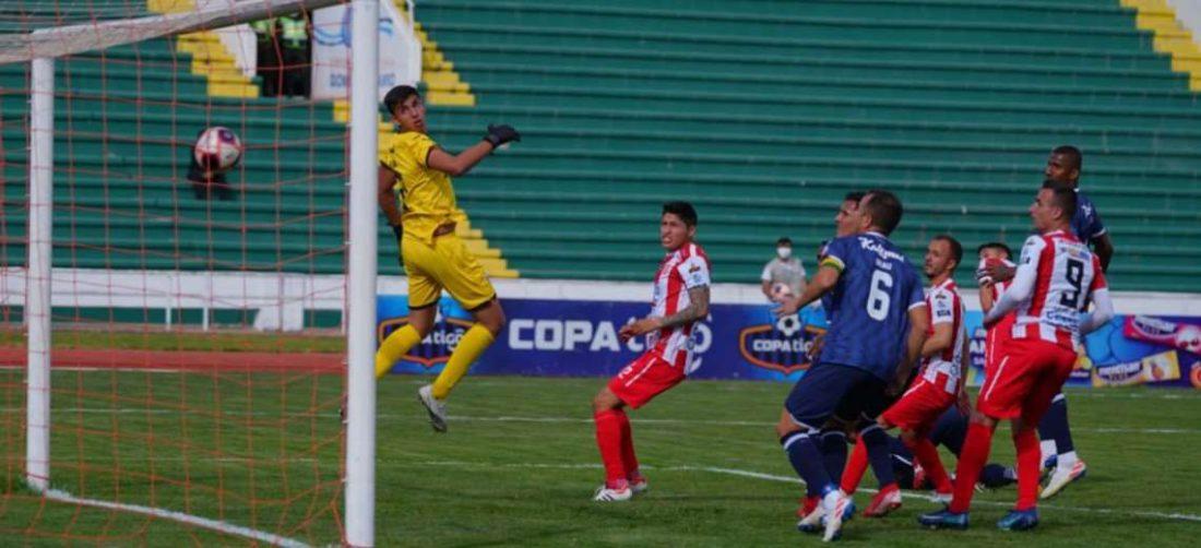 La acción en la que Independiente llegó a la apertura del marcador. Foto: APG Noticias