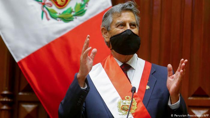 Peru Vereidigung Francisco Sagasti neuer Übergangspräsident