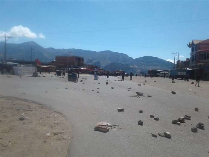 Conflictos en Betanzos, Potosí, durante la crisis de 2019. Foto: Archivo El Potosí