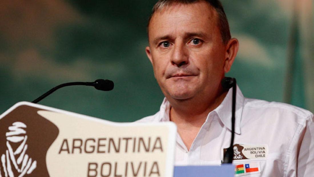 Etienne Lavigne, cuando era director del Rally Dakar. EFE ARCHIVO