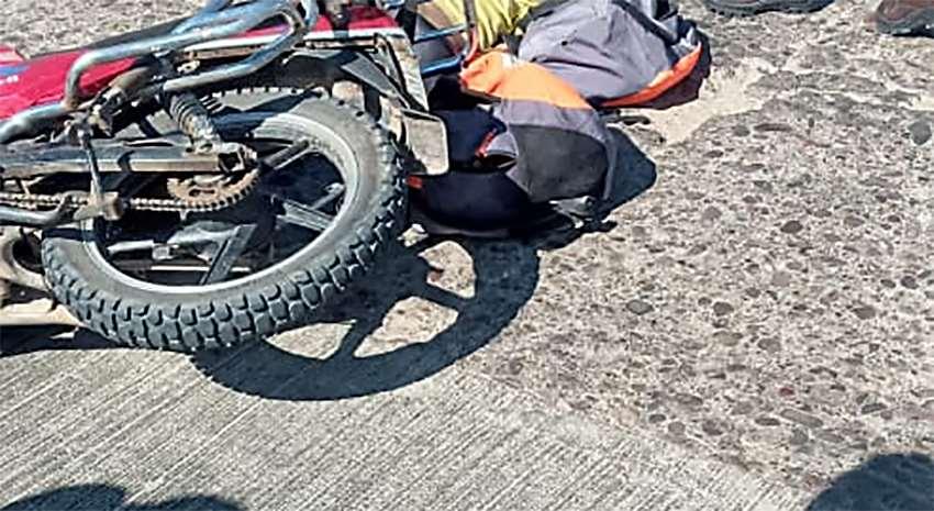 Así quedó la motocicleta tras el accidente