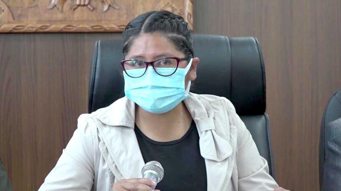 La alcaldesa de El Alto, Eva Copa. URGENTE.BO