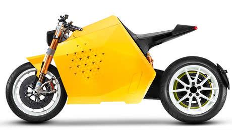 Lanzan una potente motocicleta robótica impulsada por energía eléctrica que podrá conducirse por sí misma (VIDEO)