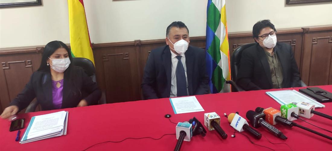 Este jueves fue la posesión de las nuevas autoridades en Sucre. Foto. William Zolá