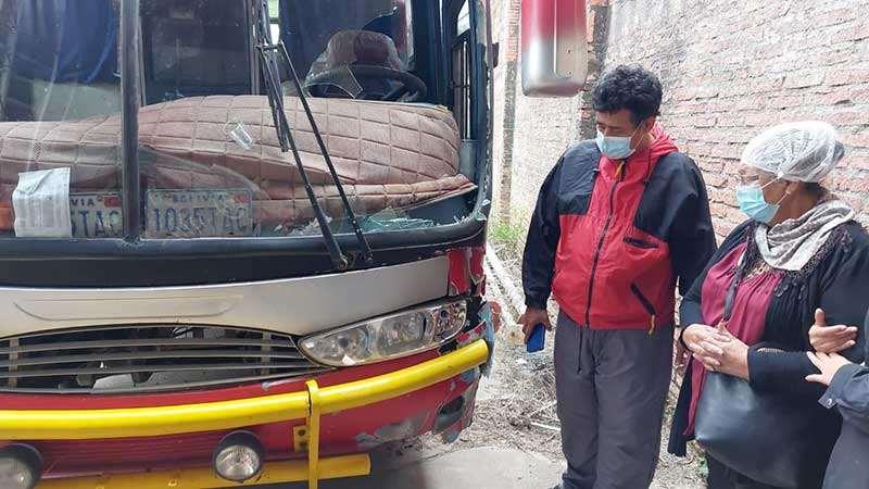 Con este bus se realizará la reconstrucción del accidente este viernes en Portachuelo.