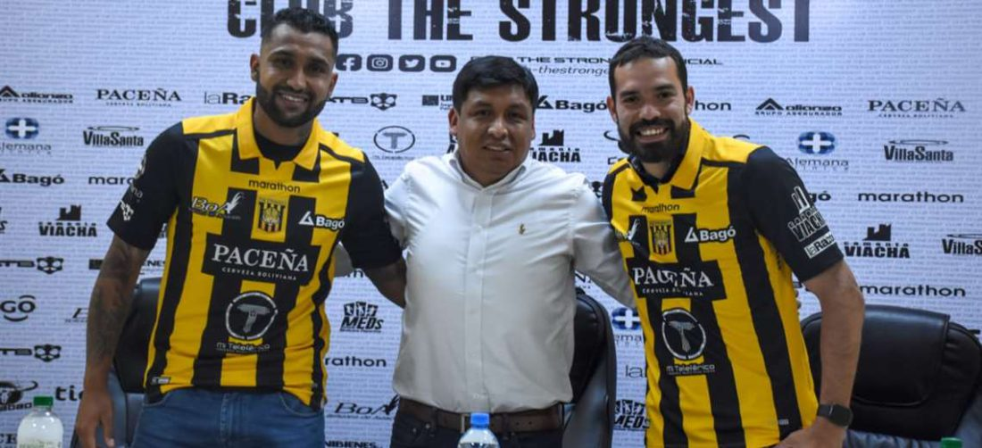 Jusino y Sánchez en la presentación como nuevos fichajes del Tigre. Foto: CTS