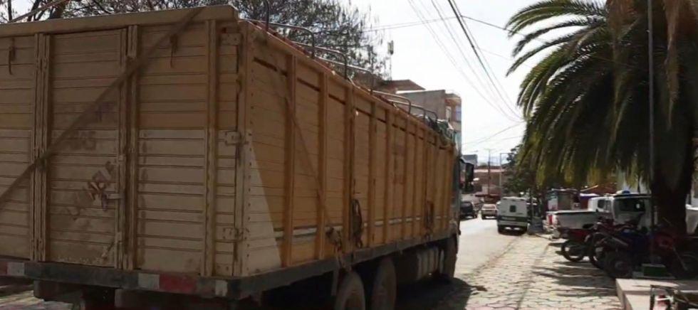 ANH intercepta camión con más de 200 garrafas de GLP en Tarija