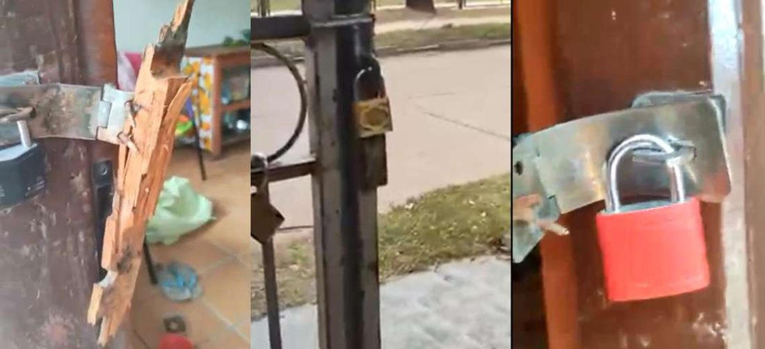Los delincuentes forzaron los candados y puertas con facilidad