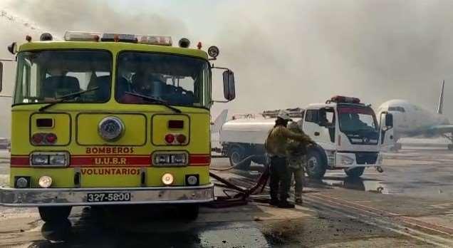 Montaño afirmó indicó que el fuego fue provocado.