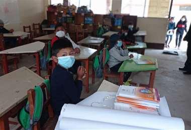 Los estudiantes pasaron clases de forma presencial / Foto: Carolina Ulloa