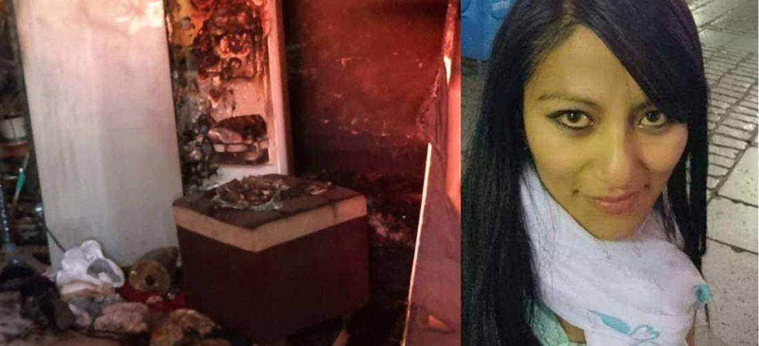 Ericka Alejandra Gutiérrez (der.) fue encontrada muerta este lunes