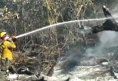 El incendio en Viru Viru fue controlado