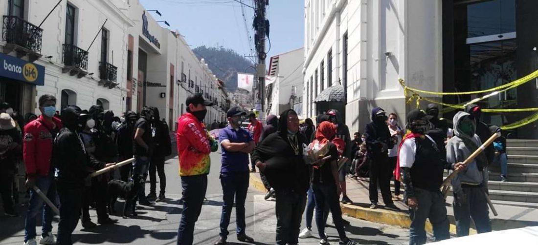 Los jóvenes se manifestaron en puertas de la Fiscalía en 2020