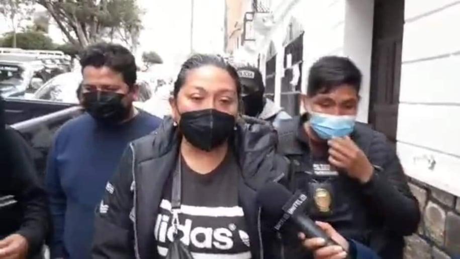 Milena Soto, ingresada a la Fiscalía de Sucre. Captura Correo del Sur