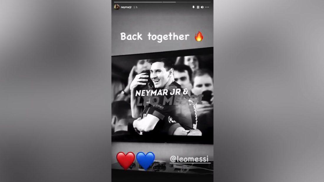 """Neymar 'hace oficial' el fichaje de Messi: """"Juntos de nuevo"""" - AS.com"""