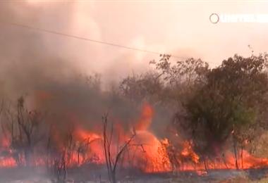 Incendio en municipios de la Chiquitania