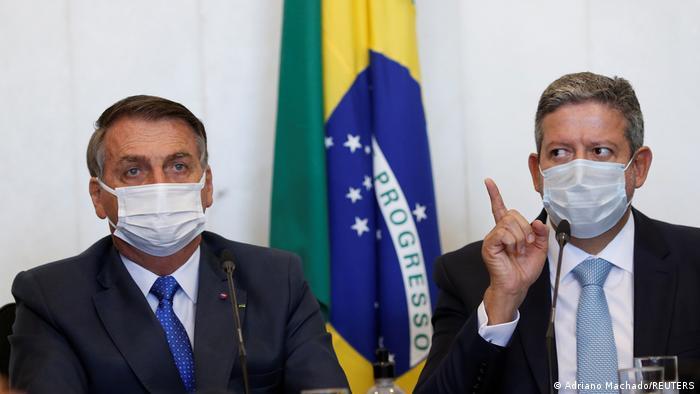 Brasilien Präsident Jair Bolsonaro und Arthur Lira