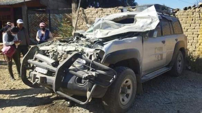 Cuatro asambleístas cochabambinos sufren un accidente de tránsito