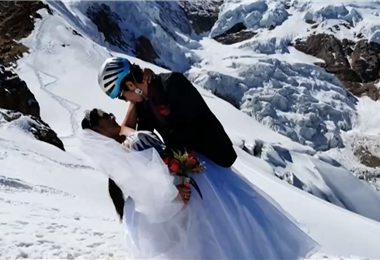 La pareja compartió las imágenes del día más importante e inolvidable de su vida