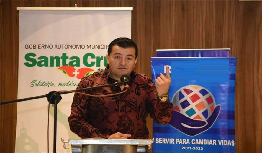 Jhonny Fernández, alcalde de Santa Cruz de la Sierra