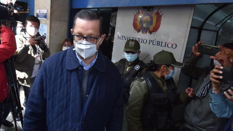 Ortiz declaró a la Fiscalía que fue convocado a la UCB «por pedido» de Salvatierra y Rivero