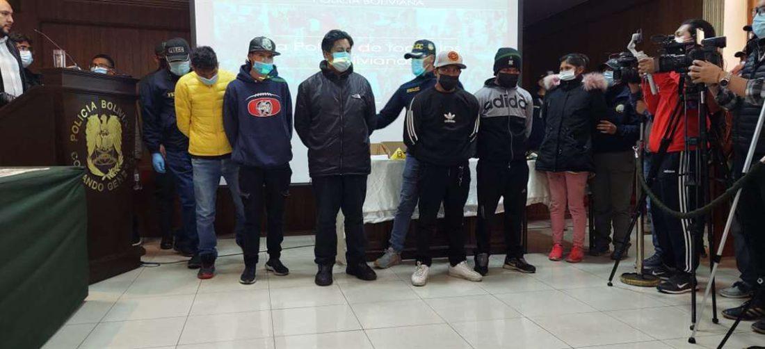 Antisociales detenidos en El Alto