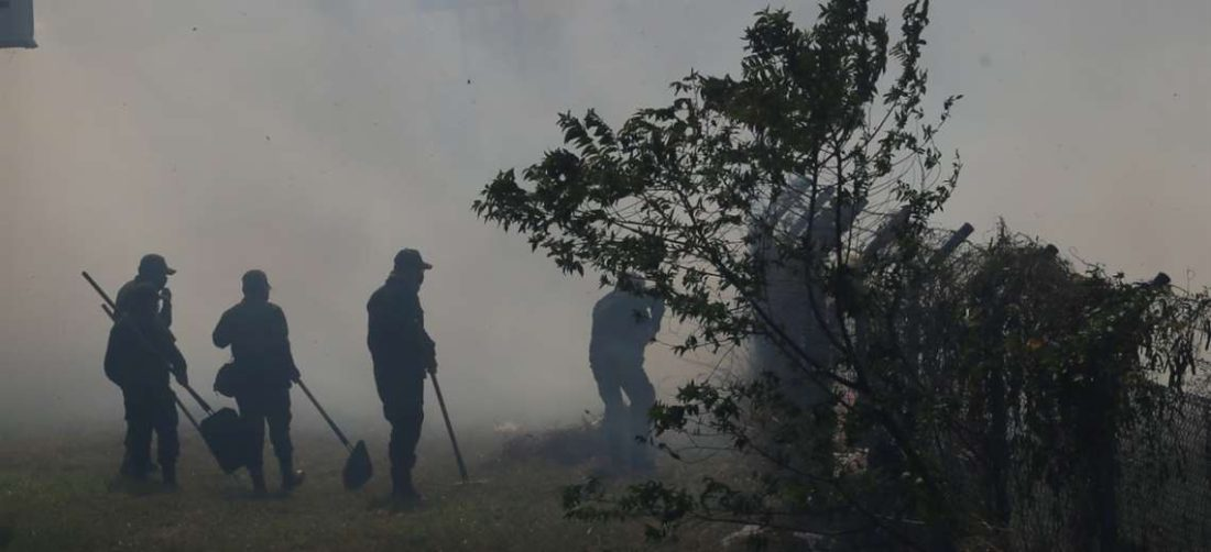 Los incendios forestales afectan al departamento (Foto: Jorge Ibáñez)