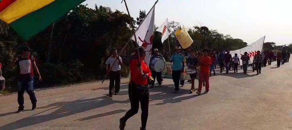 Los marchistas llegaron hasta proximidades de San Ignacio
