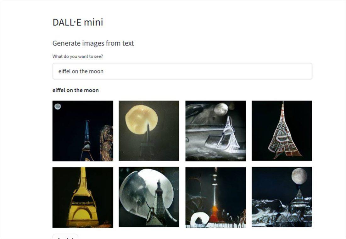 torre Eiffel en la luna