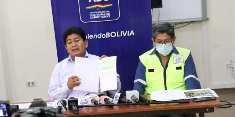 Transportistas de la Chiquitania suspenden medidas de presión. Foto: Ministerio de OO.PP.