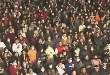 Los organizadores no cumplieron con el 50% de aforo y se produjo aglomeraciones