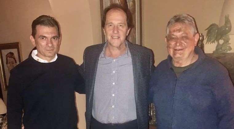 Jaime Paz (dcha.) junto a Basteiro y su hijo Rodrigo Paz