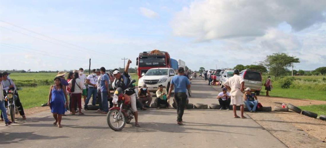Foto archivo El Deber: los transportistas amenazaron con bloquear la Chiquitania.