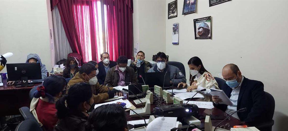 Durante el informe oral tratando el tema de la tierra
