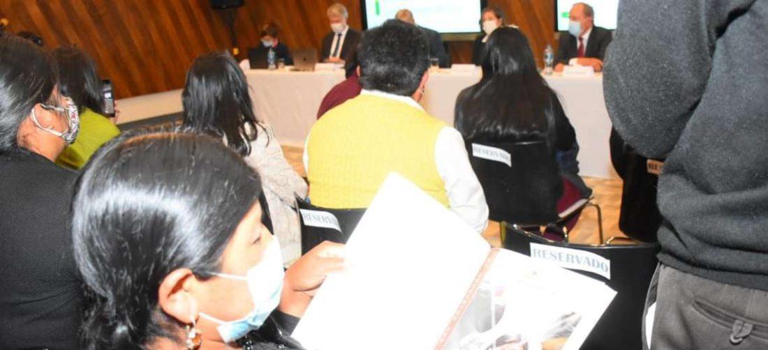 El informe estuvo acompañado por las familias damnificadas de El Alto