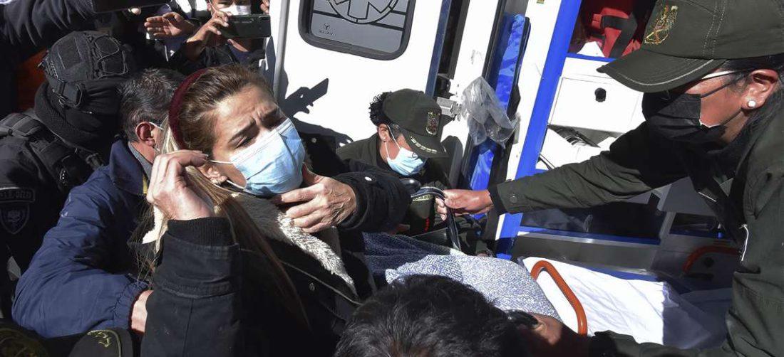 Jeanine Áñez tuvo que ser trasladada en días pasados a un hospital