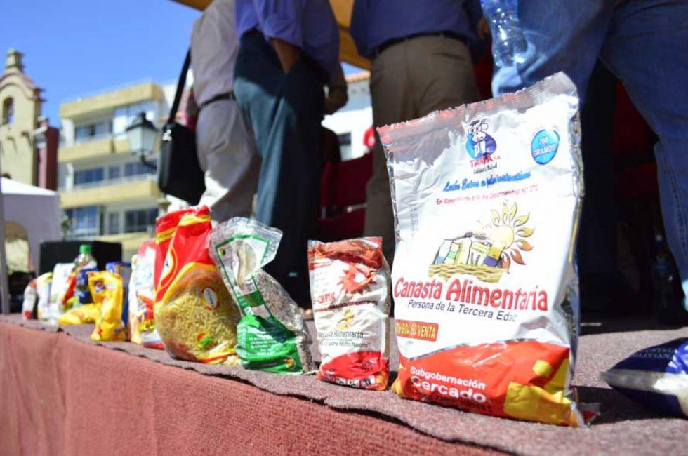 Montes confirma entrega de canasta alimentaria en septiembre