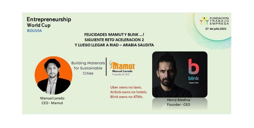 Las startups bolivianas Mamut y Blink pretenden llegar a Arabia Saudita el 15 de noviembre