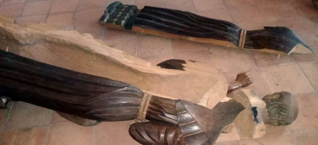 Foto Cornelio Magno: cuatro imágenes fueron destruidas en San Javier.